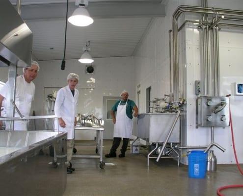 Ballard Cheese dairy polyester non skid floor installation Idaho