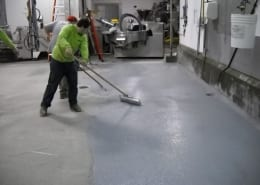 Hills Meat processing epoxy flooring install