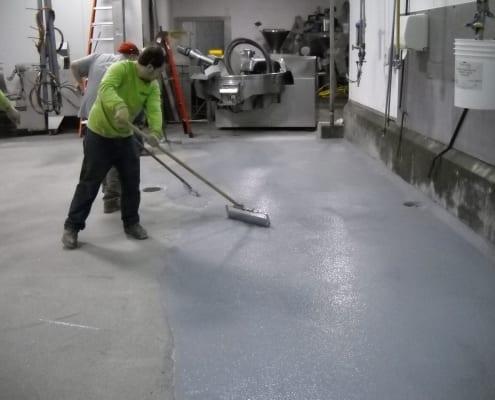 Hills Meat processing epoxy flooring install