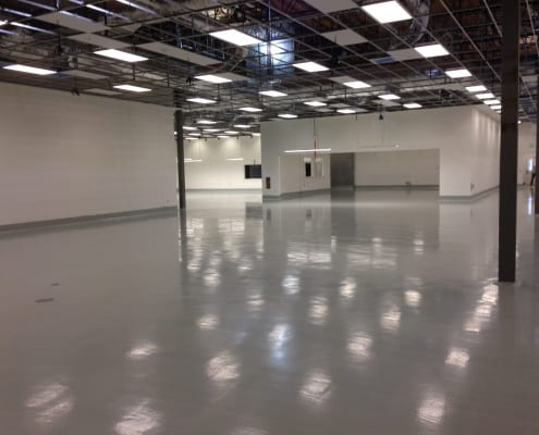 Frans Chocolate factory epoxy floor installation Seattle Washington