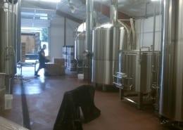 Urethane floor installation at Gigantic Brewery in Portland
