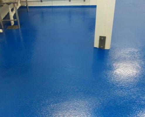 Yogurt plant epoxy floor install seattle