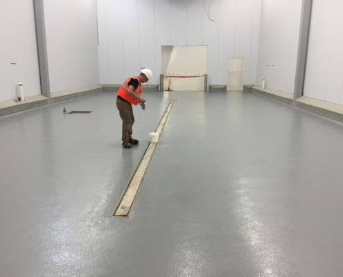 Resers Urethane flooring installation in Oregon