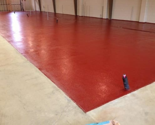 Pelican Brewing Urethane Base with Epoxy top coats flooring install in Oregon