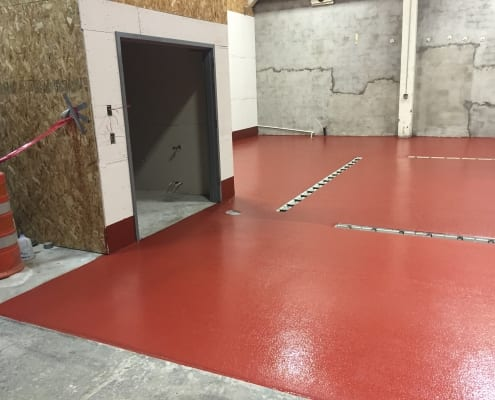 Commons Brewery floor install