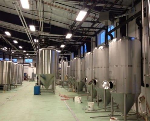 commercial floor install at Caldera Brewing