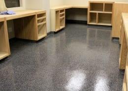 Morning Star Packing office epoxy flake flooring installation