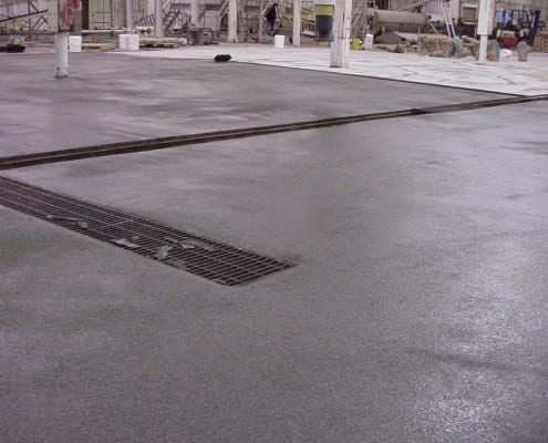 Rainsweet onion processing polyester flooring install