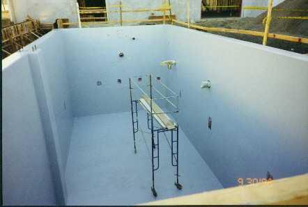 Mitsubishi chemical resistant fiberglass wall installation