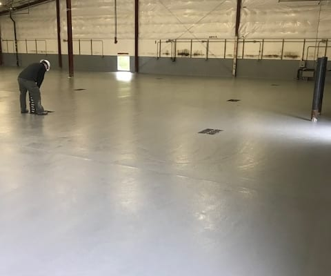 Union Wine works epoxy flooring installation