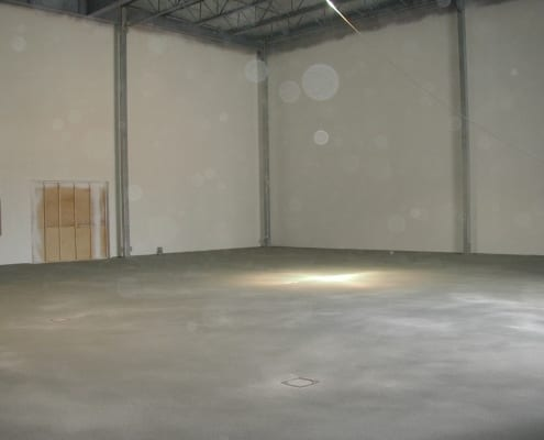 Polyester flooring installation at F & A dairy plant with Fiberglass walls