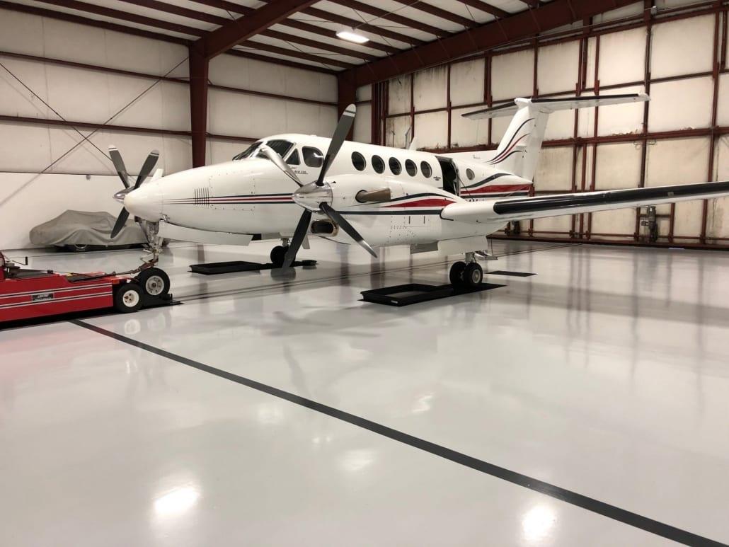 Aircraft or airport hangar flooring for aircraft flooring applications