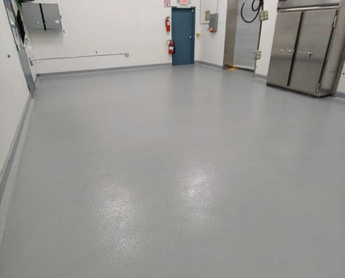 Urethane base with urethane middle coat and epoxy top coat flooring installation in Woodburn, Oregon