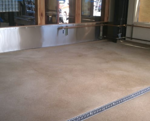 Brewery flooring installation in Corvallis at Sky High by Cascade Floors