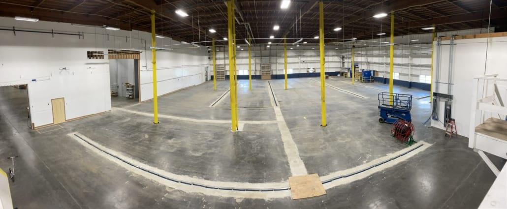 Before brewery flooring installation in Astoria Fort George Brewery
